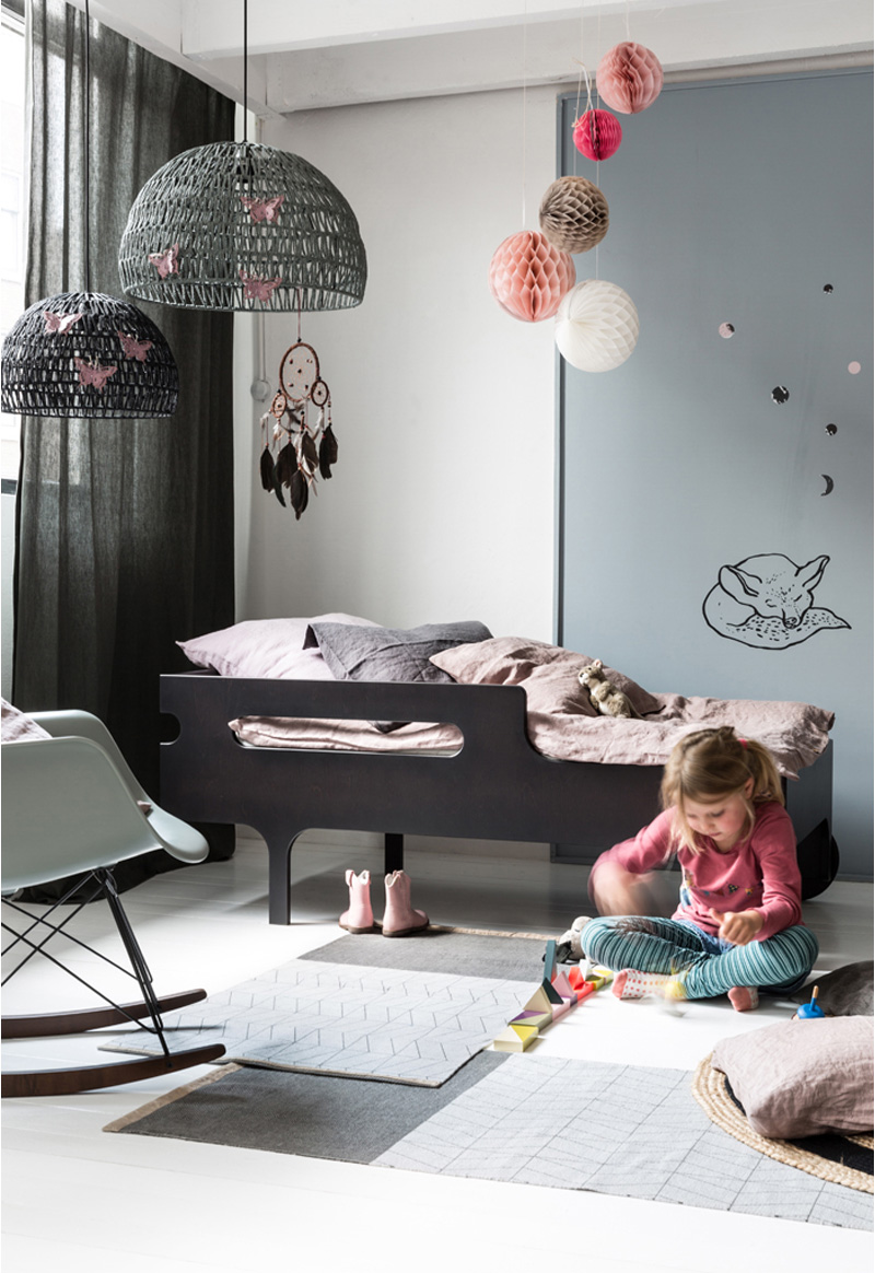 grey contemorary kids bed
