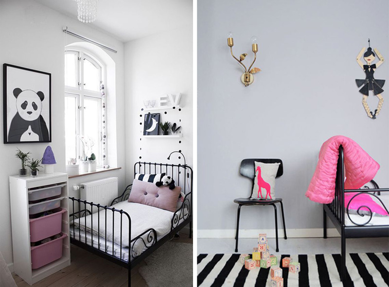 black and pink girls rooms