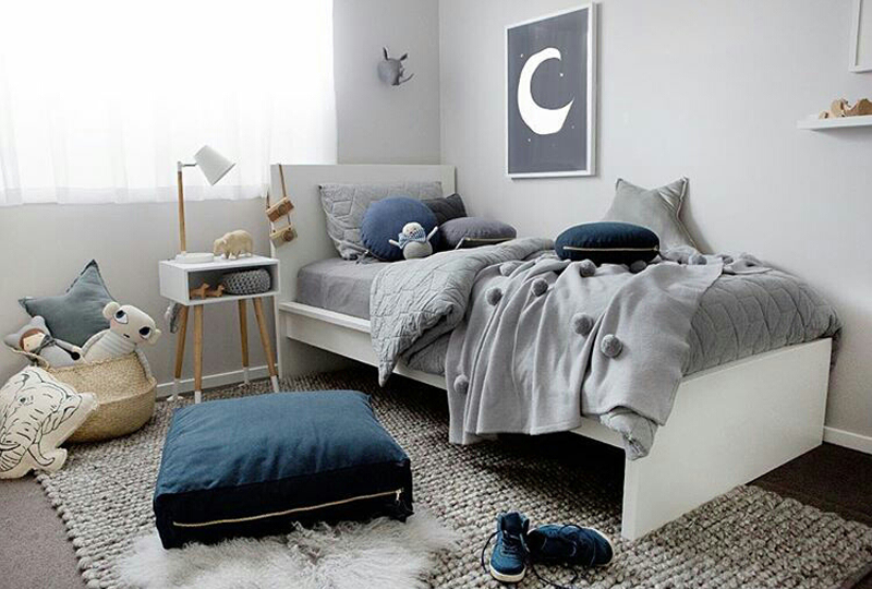 grey blue boys room