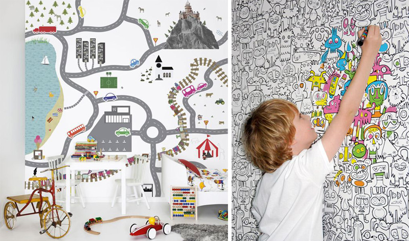 colouring-in wallpaper