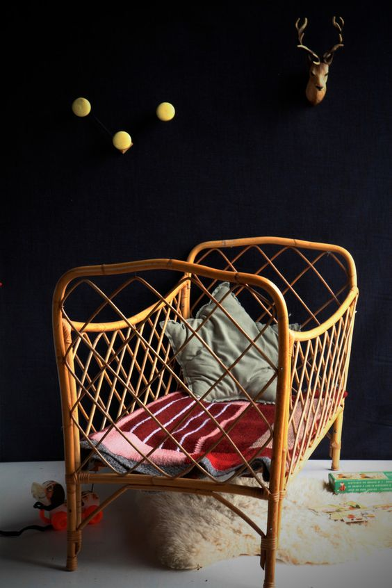 wicker babycot