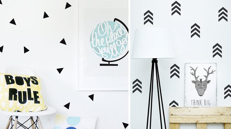 geometrical wall decals