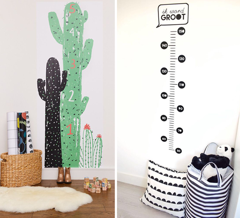 growthchart wall decals