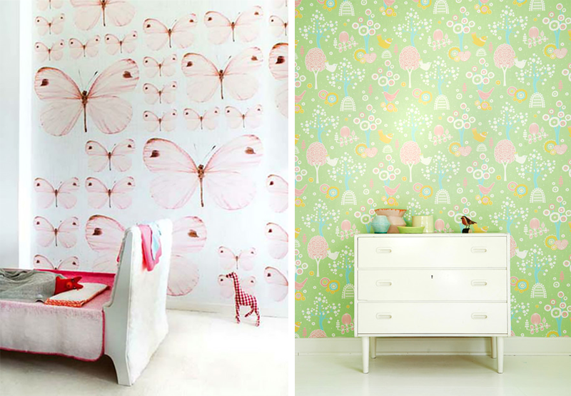 flore and fauna wallpaper