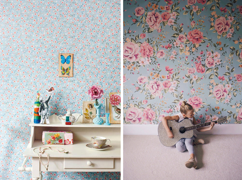 vintage chic wallpapers