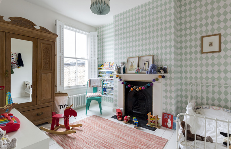 kids room harlequin wallpaper