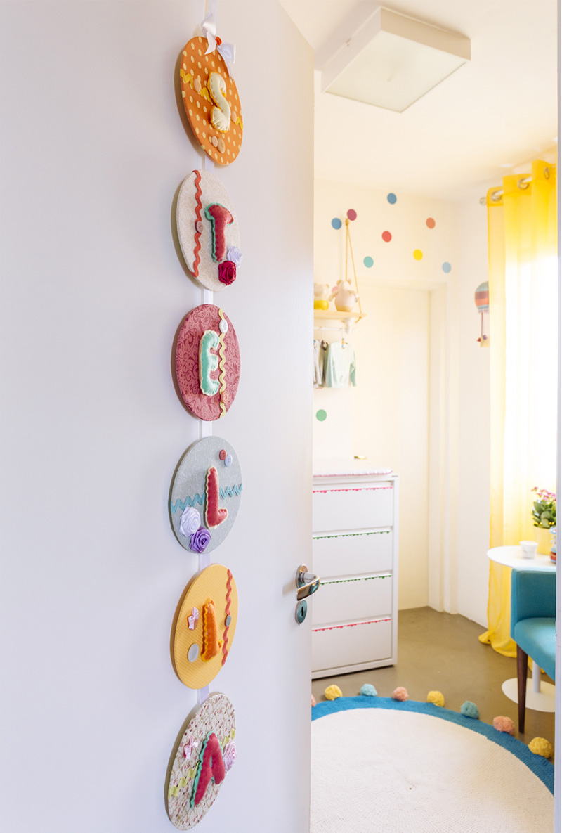 A Colourful and Dotty Girl Nursery from Brazil