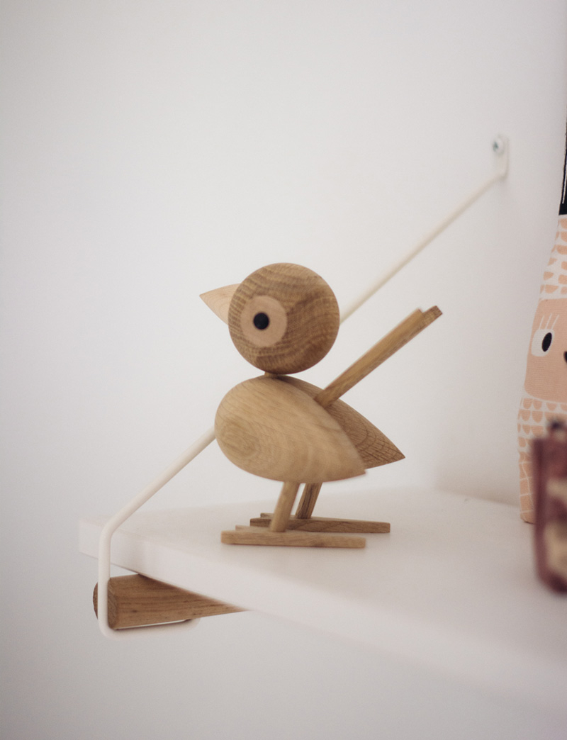 wooden bird decor