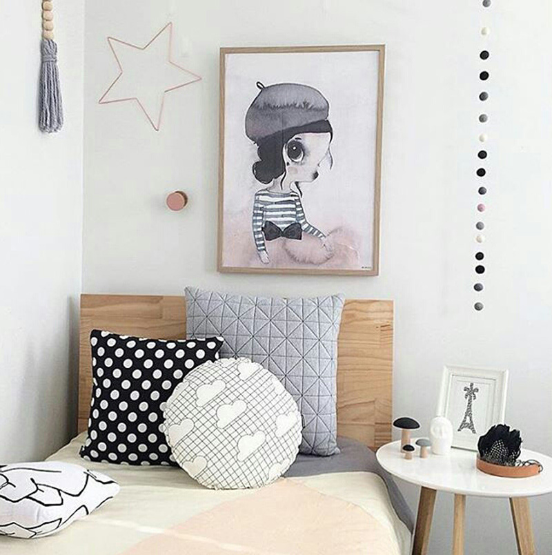 modern trendy girls room