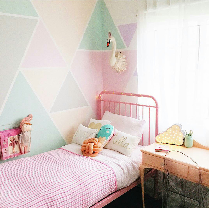 Kids Room Wall Design: Geometric Décor In Kids' Rooms