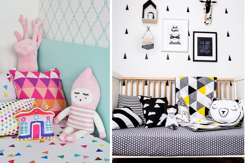 geometrical cushions for girls