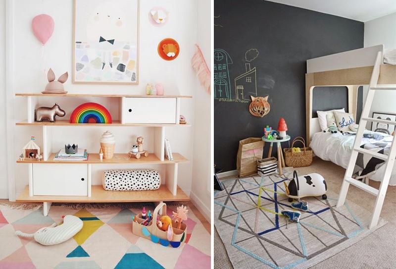 geometric rugs kids room
