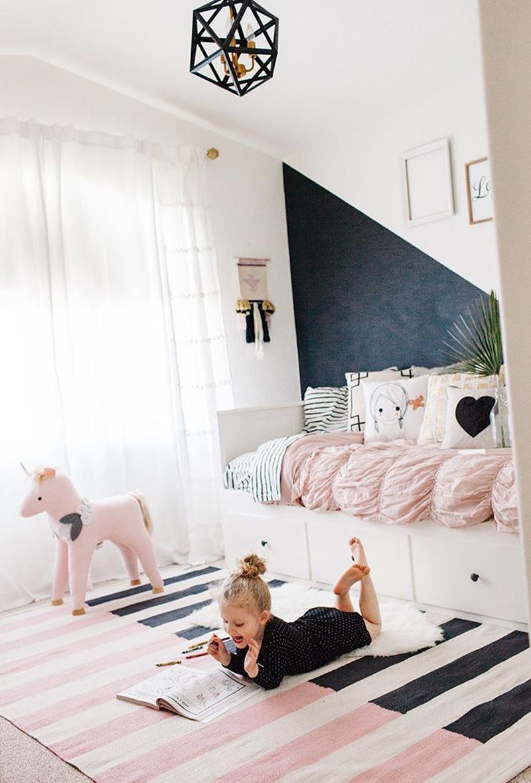 striped rug kids room