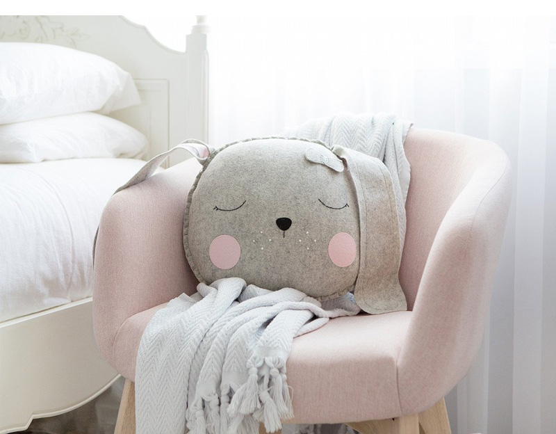 bunny felt cushion