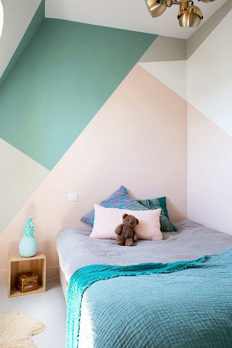 graphic pastel walls