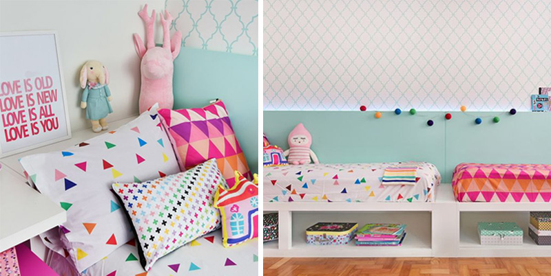 geometrical textiles for kids