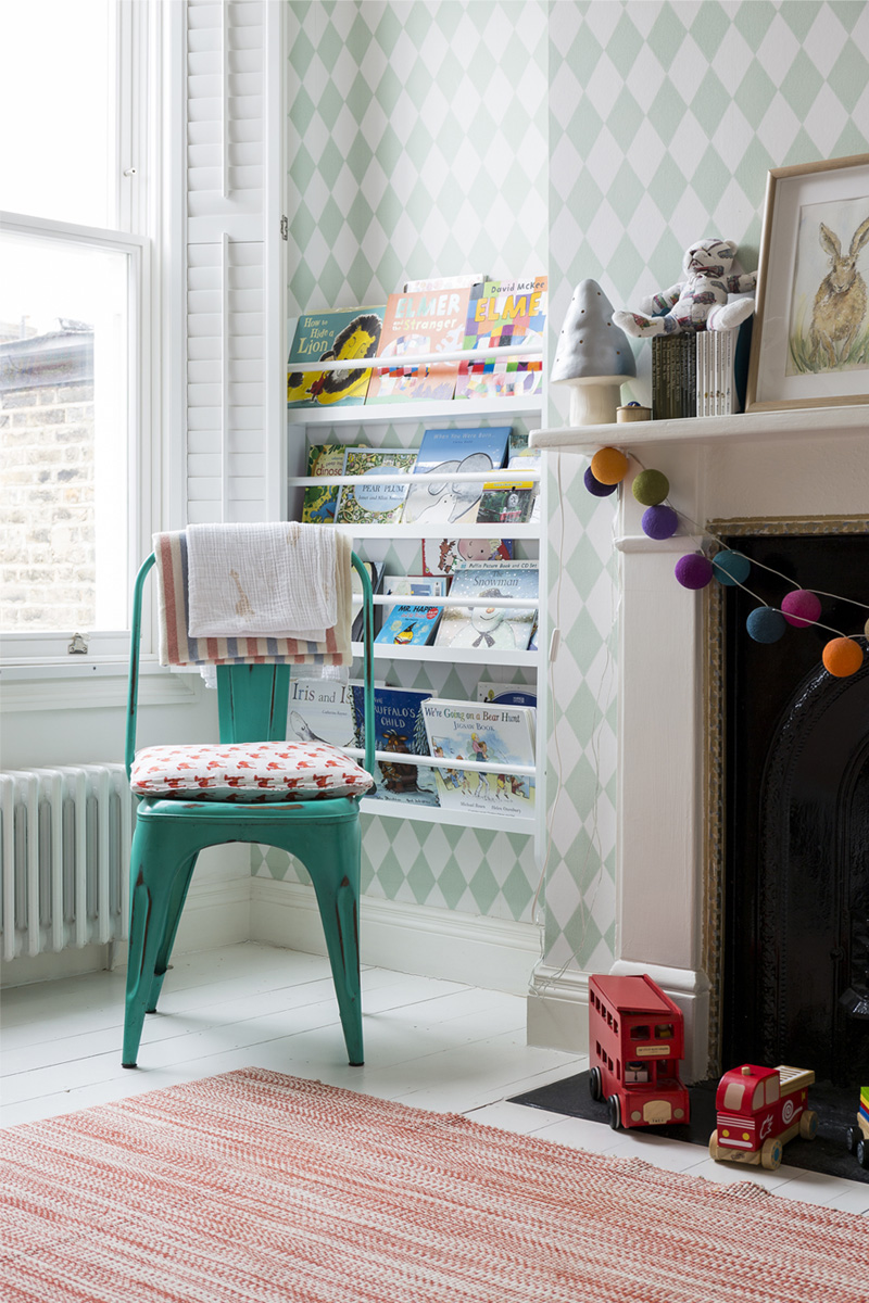 mintgreen chair kids room