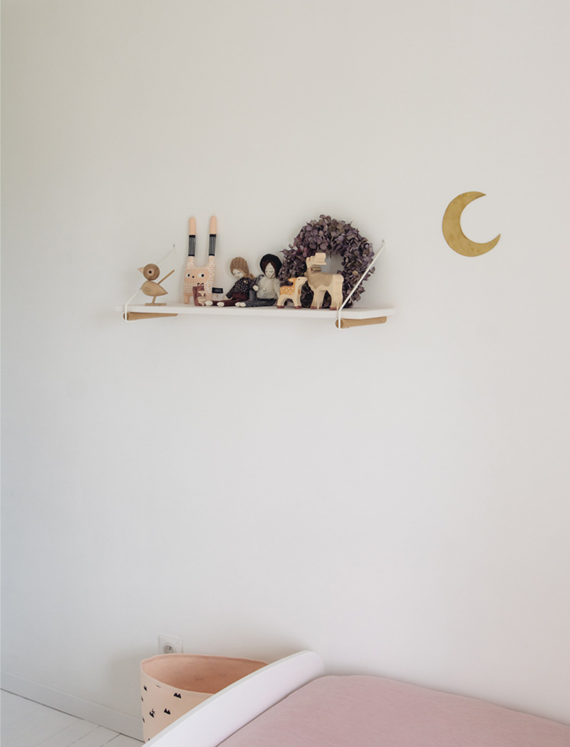 golden moon wall decal