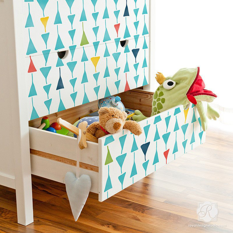 geometric shapes on kids furniture