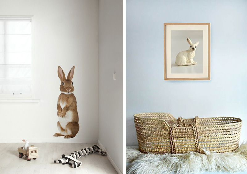 bunny wall decor