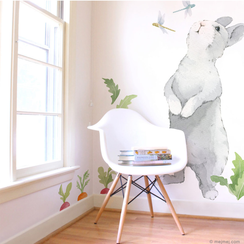 oversized bunny wall decal