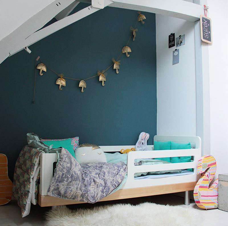 blue wall kids room