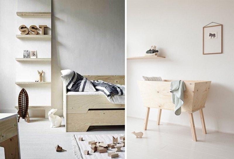 natural wooden kids furniture