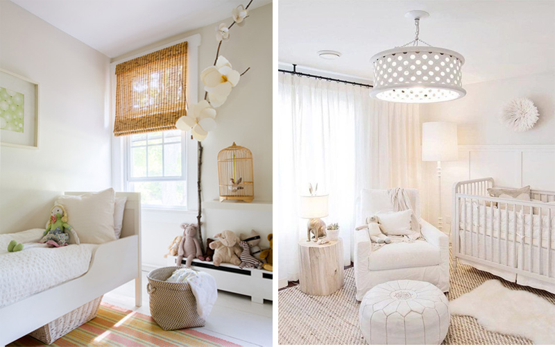 white and beige kids rooms