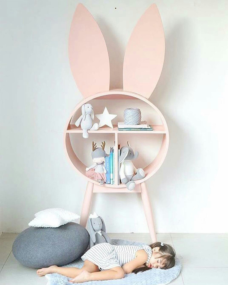 pink bunny shelf