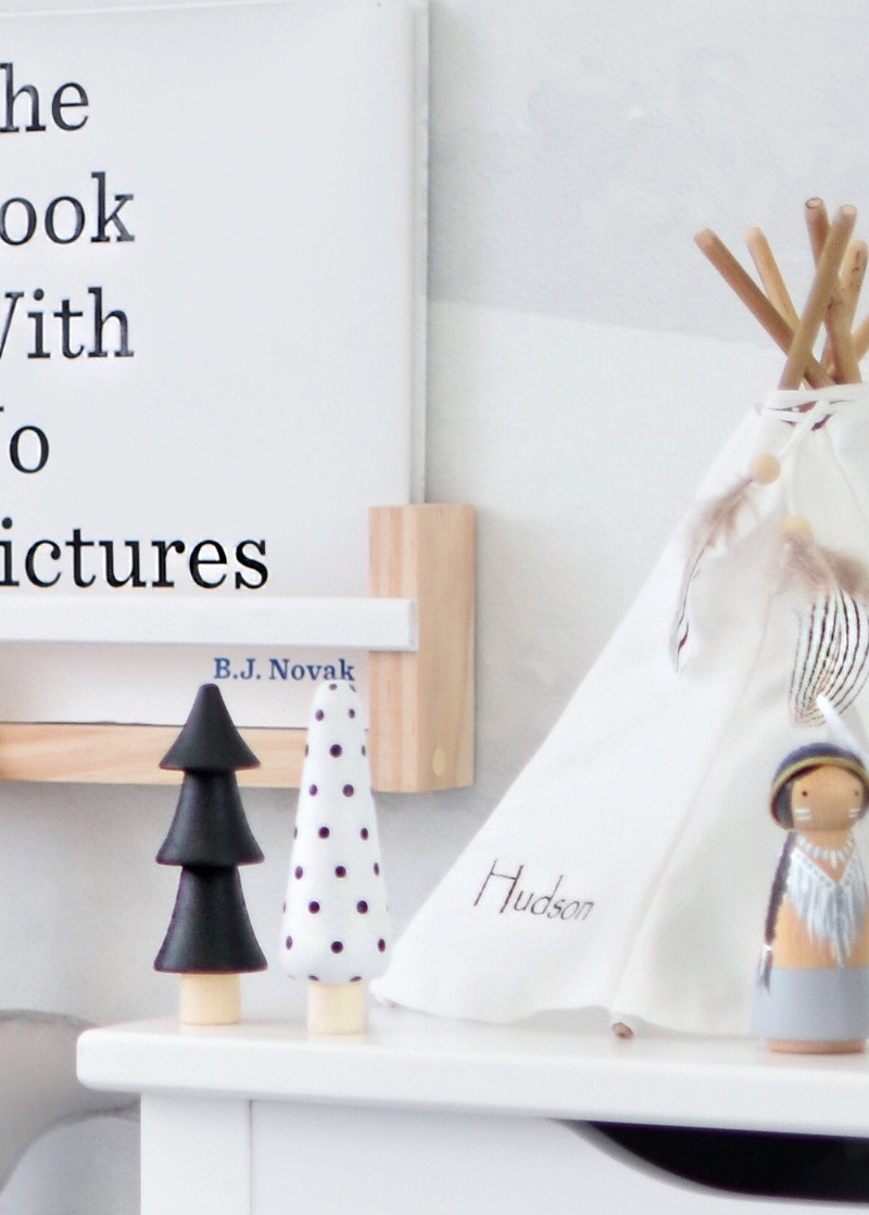 mini teepee decor