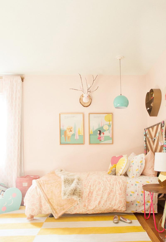 pastel pink girls room