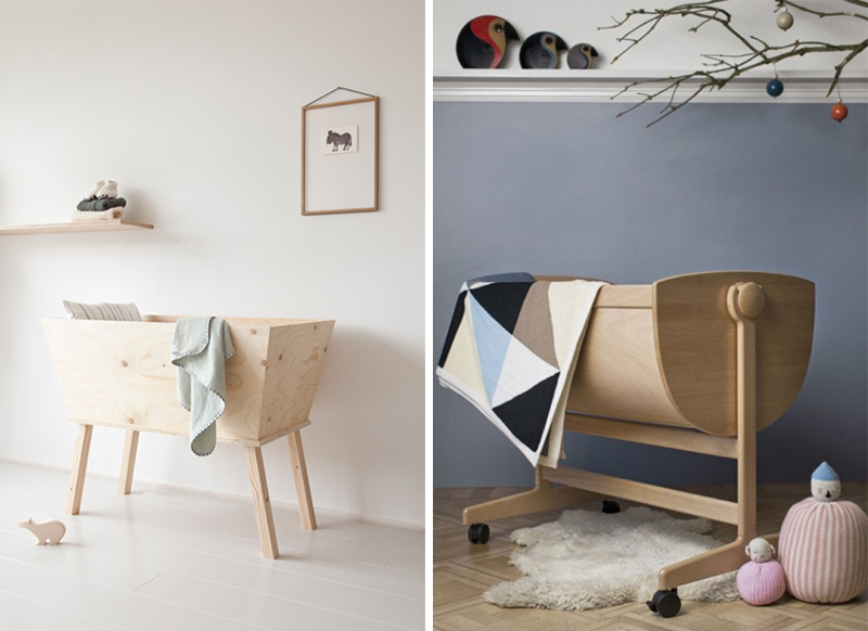 wooden cradle cots bassinets