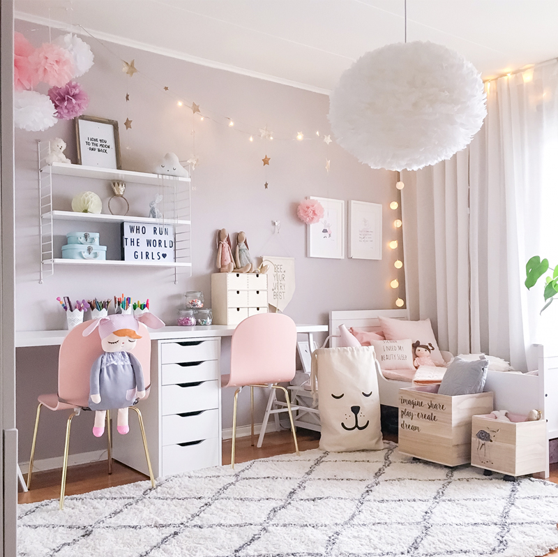 A scandinavian style shared girls 39 room by kids interiors for Jugendzimmer young users