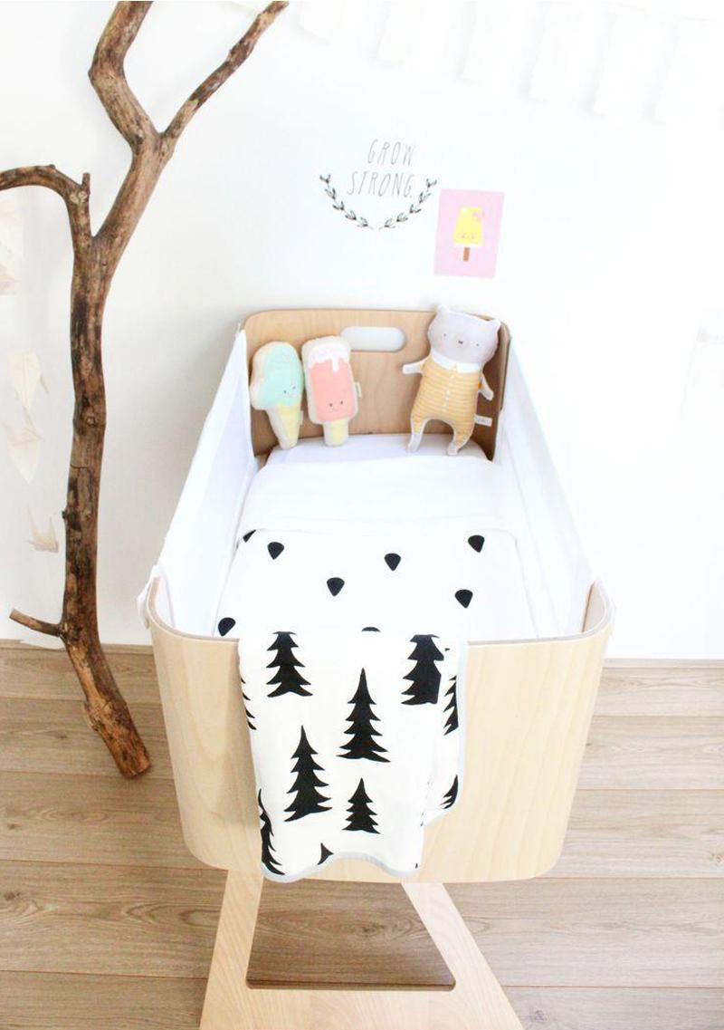 natural beech bassinet