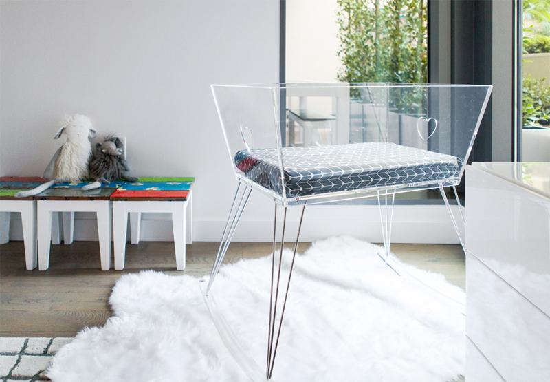 plexiglass bassinet cot