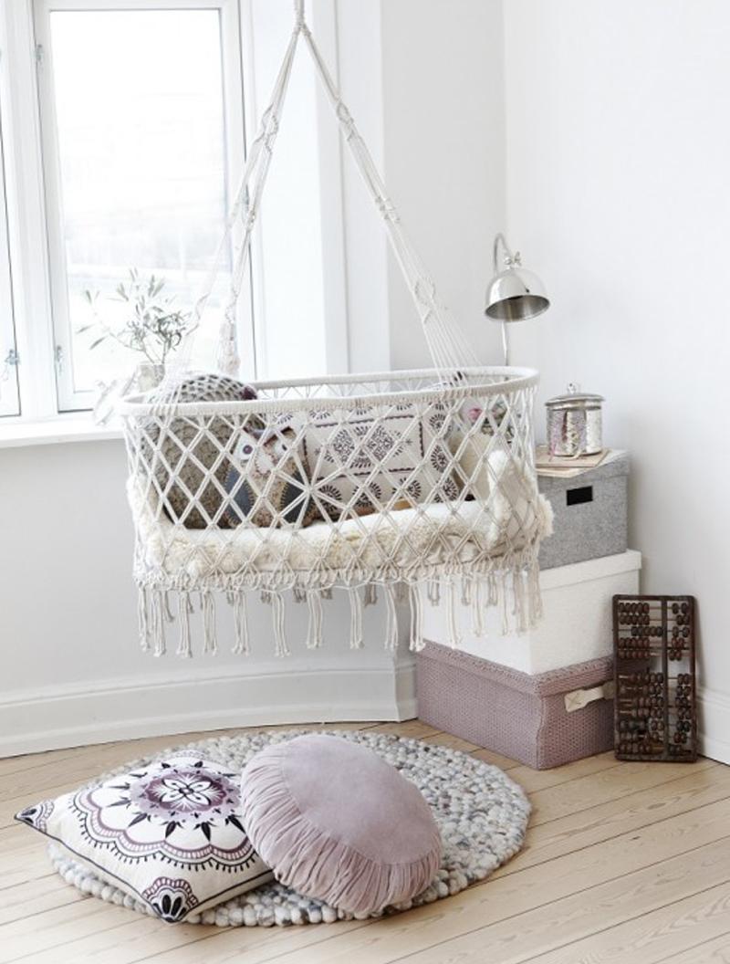hanging crochet cot
