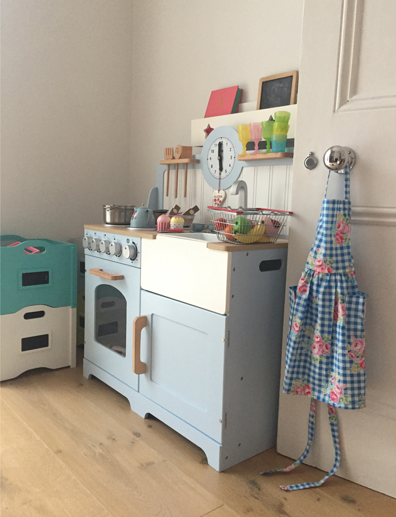 pale blue playkitchen