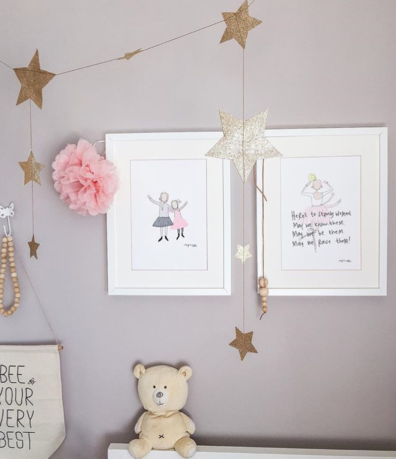 nursery posters for girls