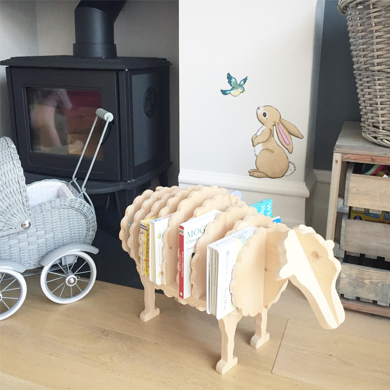 wooden sheep bookholder