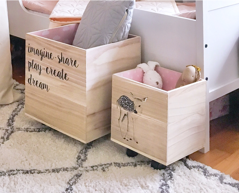 wooden toy storage boxes
