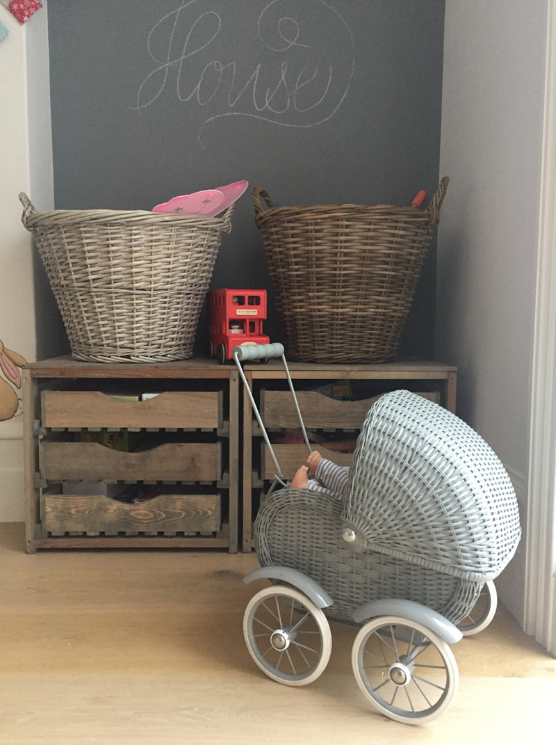 vintage style toy baby stroller