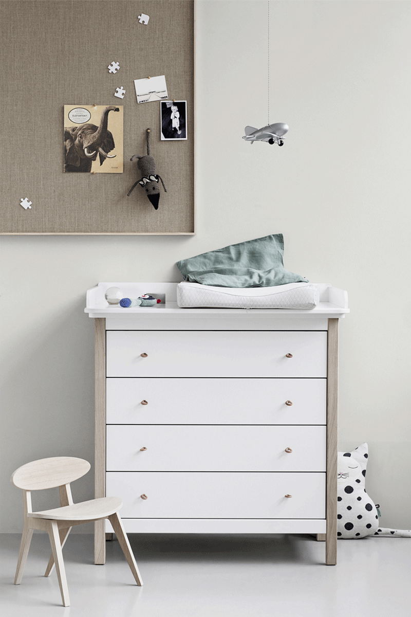 White Nursery Changing Table