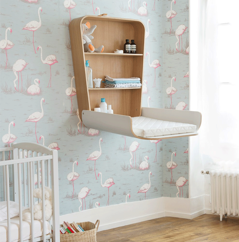 wall changing table