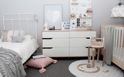 TED'S AND ALICE'S SHARED KIDS' ROOM