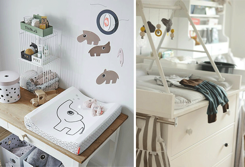 decor for changing table