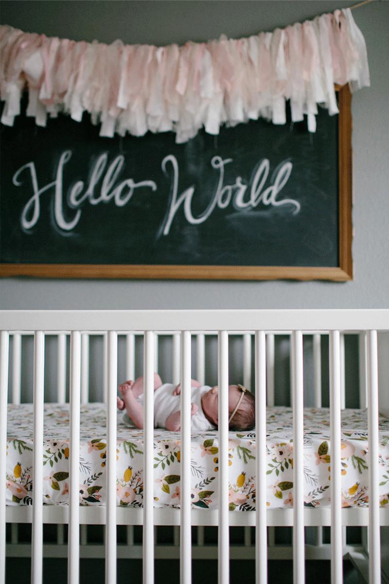 chalkboard in nursery