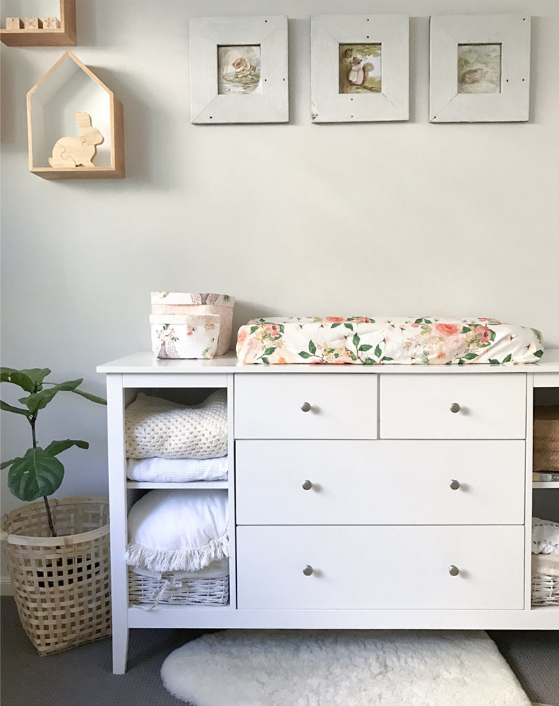 white changing table nursery