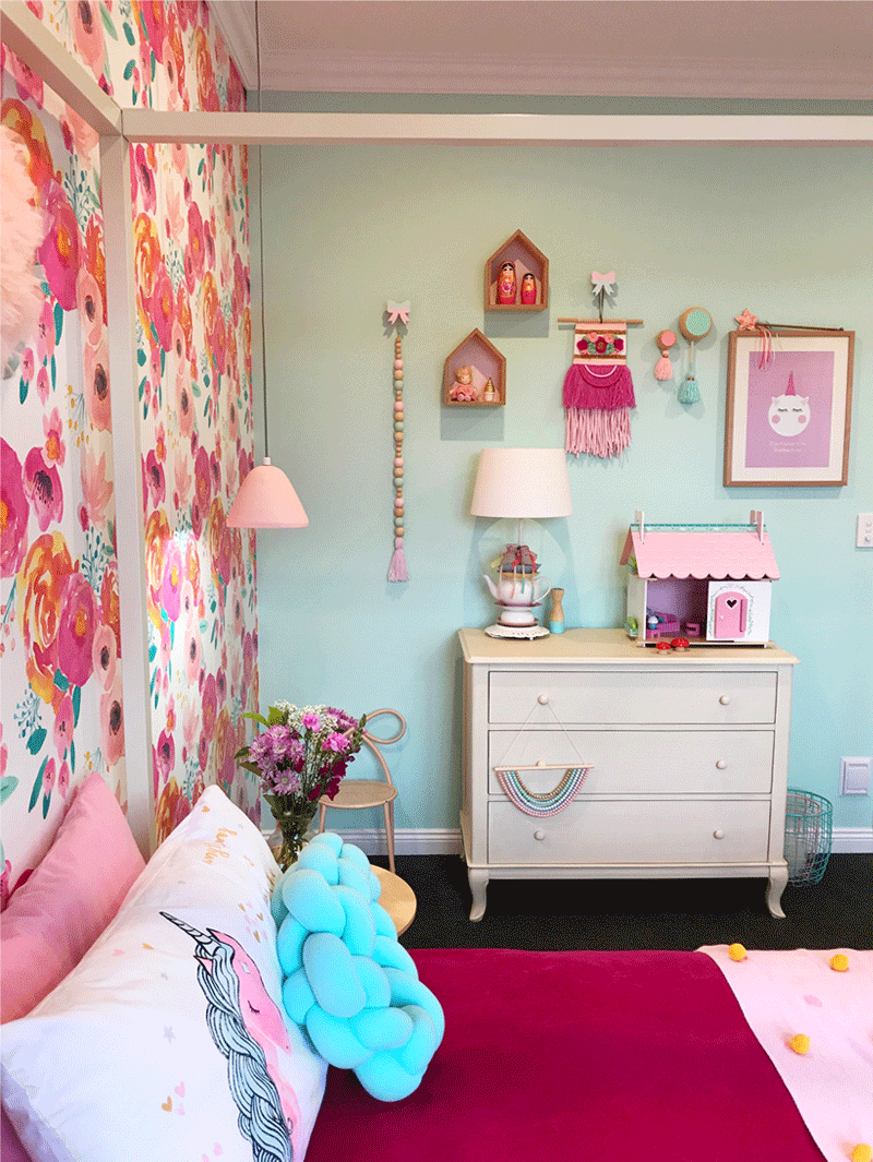 April S Colourful And Floral Girl S Room By Kids Interiors
