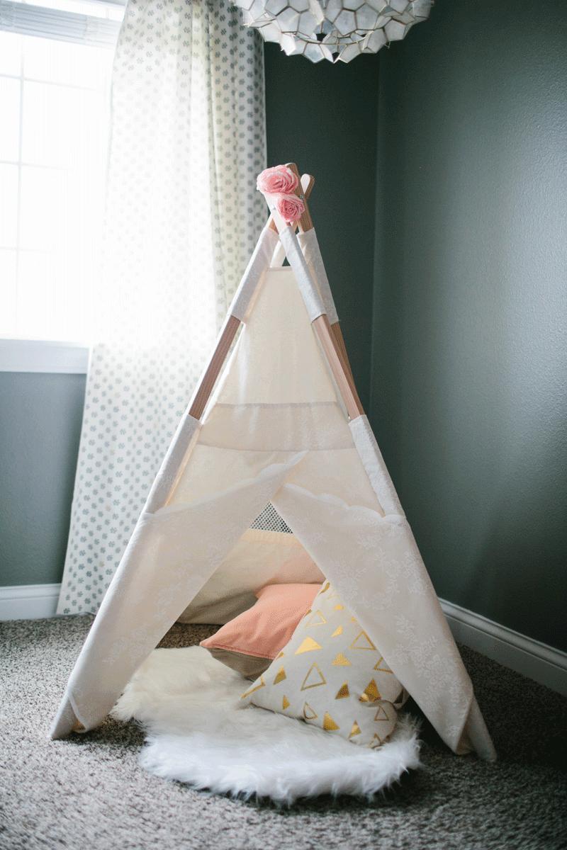 teepee in nursery