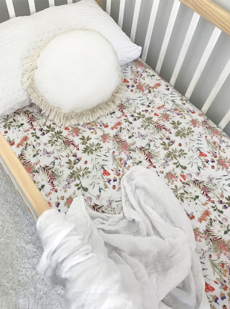 floral crib sheets